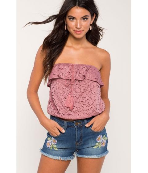 Imbracaminte Femei CheapChic Katie Crochet Tassel Tube Mauve