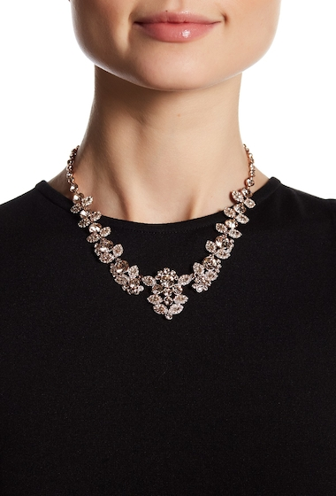 Bijuterii Femei Givenchy Crystal Accented Collar Necklace ROSE GOLD