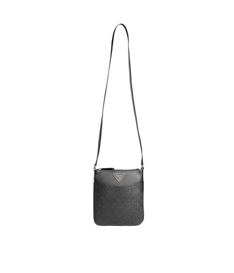 Genti Femei GUESS Desire Logo-Embossed Crossbody black