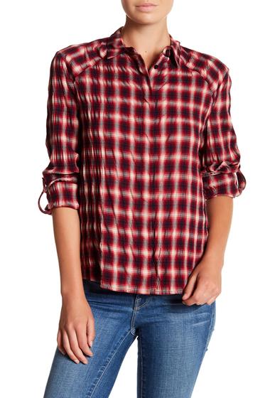 Imbracaminte Femei Alice Olivia Roll Sleeve Plaid Shirt POPPY-MULTI