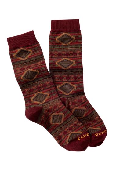 Accesorii Femei Pendleton Cedar Mountain Crew Socks MAROON
