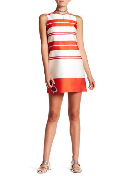 Imbracaminte Femei Alice Olivia Clyde A-Line Shift Dress ORANGE-WHITE