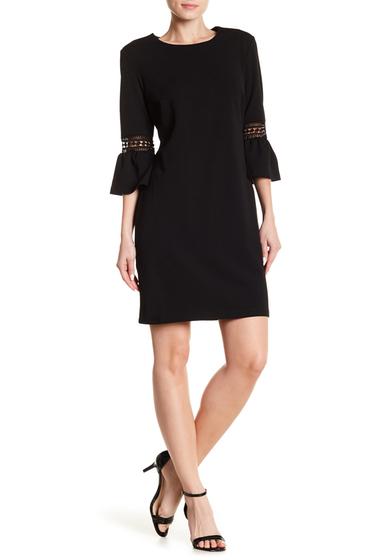 Imbracaminte Femei ABS Collection Bell Sleeve Shift Dress JET BLACK