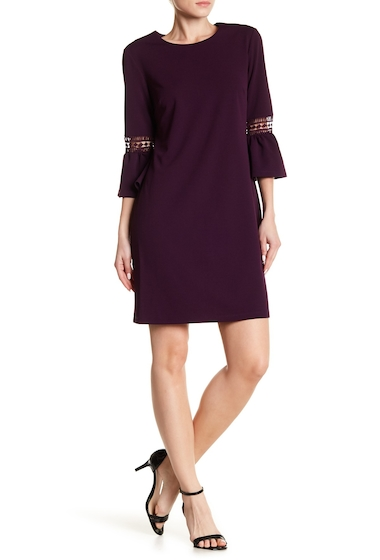 Imbracaminte Femei ABS Collection Bell Sleeve Shift Dress MYSTIC VIOLET