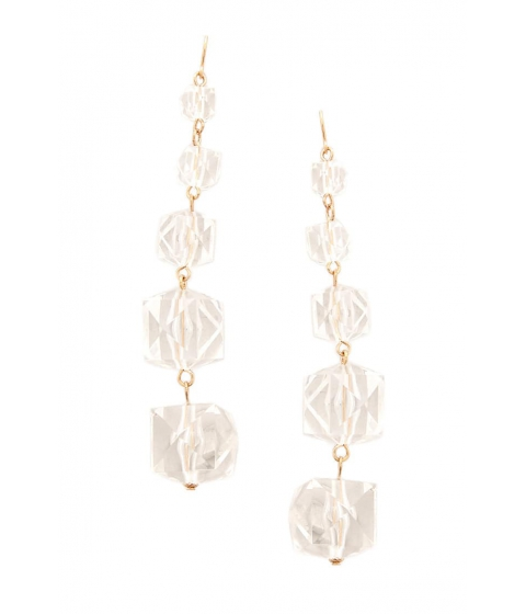 Bijuterii Femei Forever21 Tiered Drop Earrings GOLDCLEAR