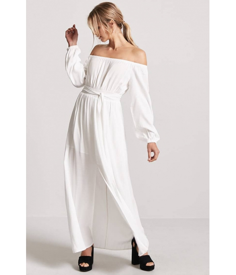 Imbracaminte Femei Forever21 Woven Off-the-Shoulder Maxi Dress IVORY
