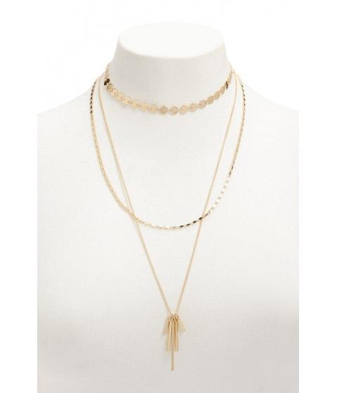 Bijuterii Femei Forever21 Layered Matchstick Pendant Necklace GOLD