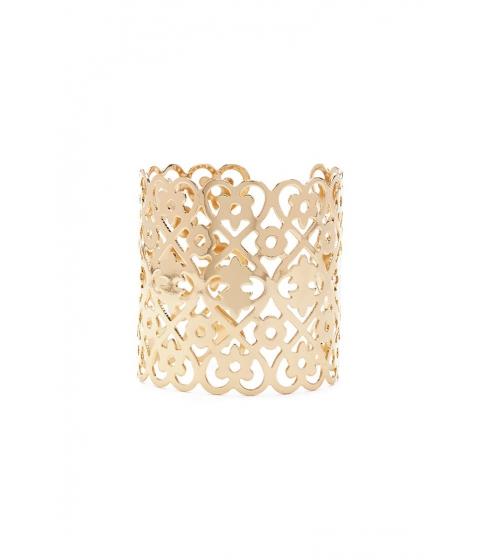 Bijuterii Femei Forever21 Heart Flower Cutout Cuff Bracelet GOLD