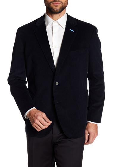 Imbracaminte Barbati TailorByrd Black Ribbed Corduroy Two Button Modern Fit Sport Coat BLACK