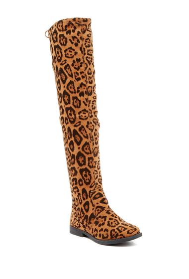 Incaltaminte Femei LILIANA Vista Thigh High Stretch Boot LEOPARD