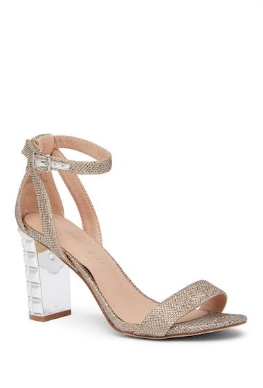 Incaltaminte Femei Madden Girl Bliing Block Heel Sandal GLD FABRIC