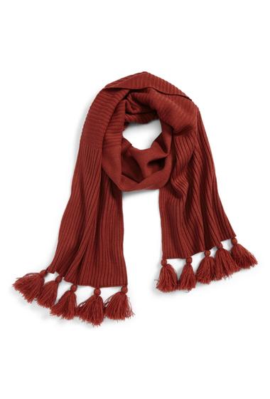 Accesorii Femei BP Tassel Trim Knit Scarf RUST