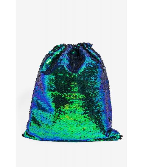 Genti Femei CheapChic Sequin Drawstring Backpack Green Pattern