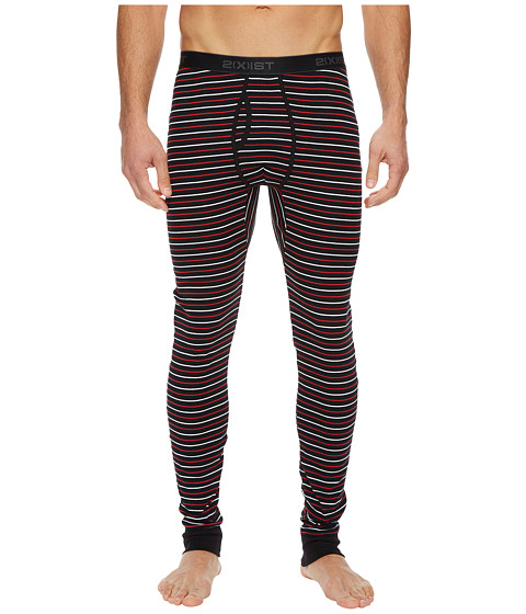 Imbracaminte Barbati 2(X)IST Essentials Long Underwear StripeBlack