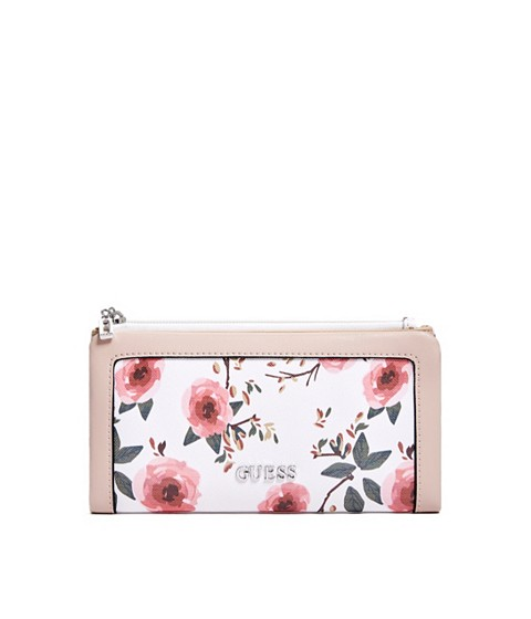 Accesorii Femei GUESS Andover Floral Billfold Wallet white multi