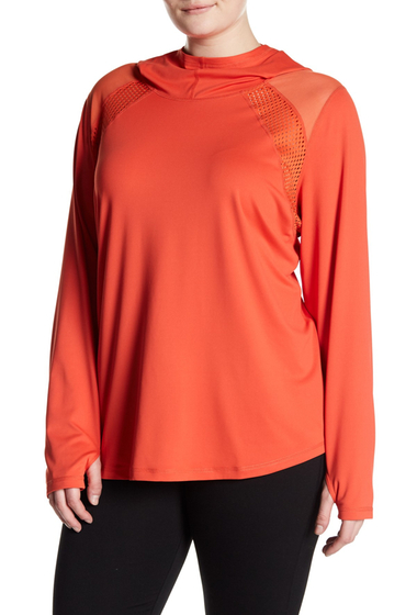 Imbracaminte Femei Z By Zella Infusion Tech Pullover Hoodie Plus Size RED PAPRIKA
