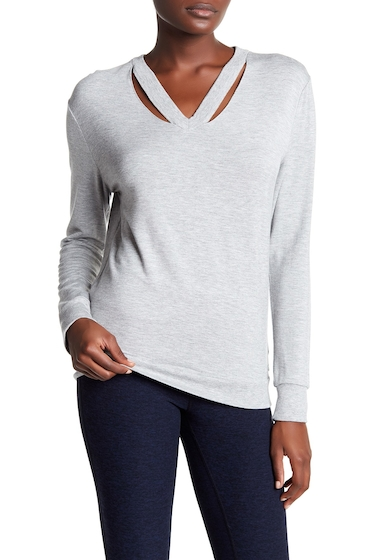 Imbracaminte Femei Marc New York V-Neck Cutout Sweater LT GREY HE