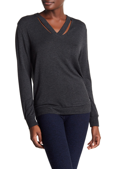 Imbracaminte Femei Marc New York V-Neck Cutout Sweater CHARCOAL H