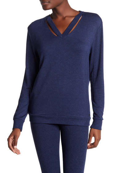 Imbracaminte Femei Marc New York V-Neck Cutout Sweater MIDNIGHT