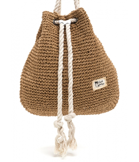 Accesorii Femei CheapChic Nautical Charm Woven Straw Backpack Brown