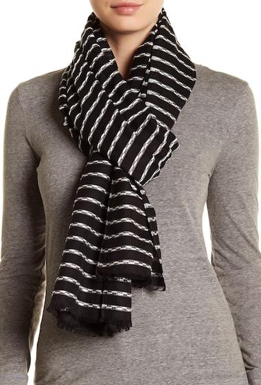 Accesorii Femei Melrose and Market Stripe Knit Scarf BLACK COMBO