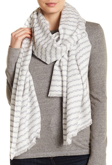 Accesorii Femei Melrose and Market Stripe Knit Scarf WHITE COMBO