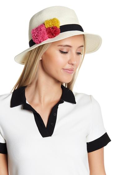 Accesorii Femei Melrose and Market Pompom Trim Panama Hat IVORY