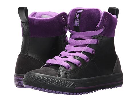 Incaltaminte Fete Converse Chuck Taylor All Star Asphalt Boot Hi (Little KidBig Kid) BlackNight PurpleViolet