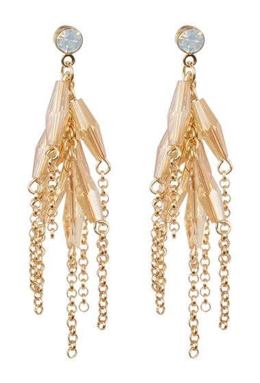 Bijuterii Femei Spring Street Crystal Faceted Bead Accented Fringe Drop Earrings MULTI