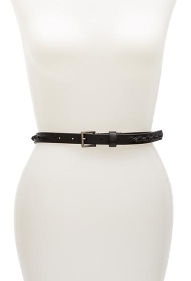 Accesorii Femei Liebeskind Berlin Thin Knotted Leather Belt NAIROBI BLACK
