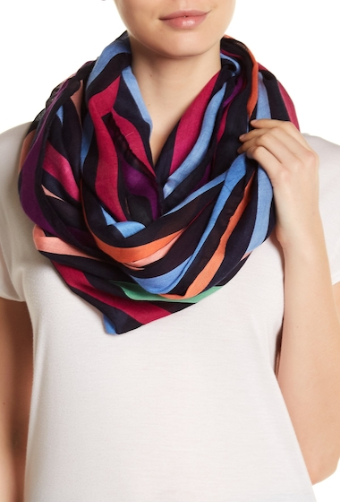 Accesorii Femei Roffe Accessories Bright Stripe Infinity Scarf MU