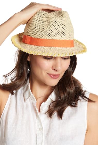 Accesorii Femei August Hats Woven Straw Fedora NATURAL