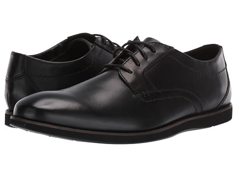 Incaltaminte Barbati Clarks Raharto Plain Black Leather