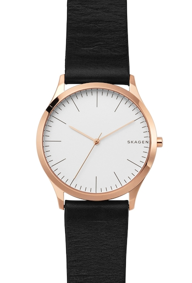 Ceasuri Femei Skagen Womens Jorn Leather Strap Watch Vinther Leather Bracelet Set 40mm NO COLOR