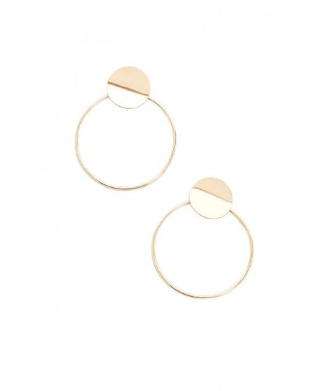 Bijuterii Femei Forever21 Hoop Drop Earrings GOLD