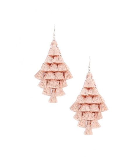 Bijuterii Femei Forever21 Tiered Tassel Drop Earrings PEACH