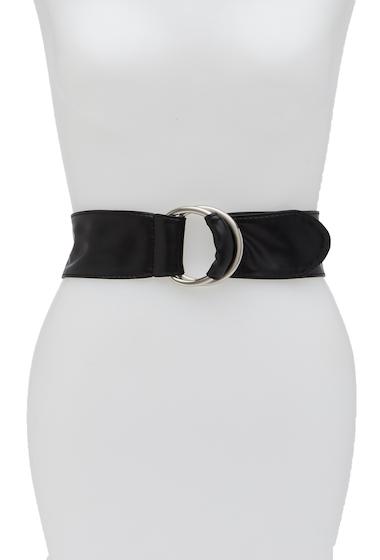 Accesorii Femei FASHION FOCUS ACCESSORIES Double Ring Buckle Sash Belt BLK SLVR