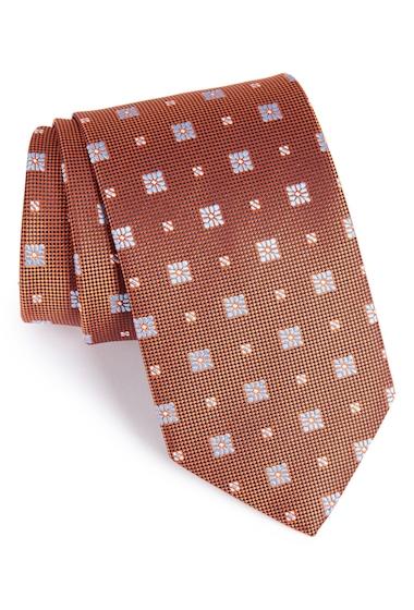 Accesorii Barbati Eton Medallion Silk Tie YELLOWORANGE