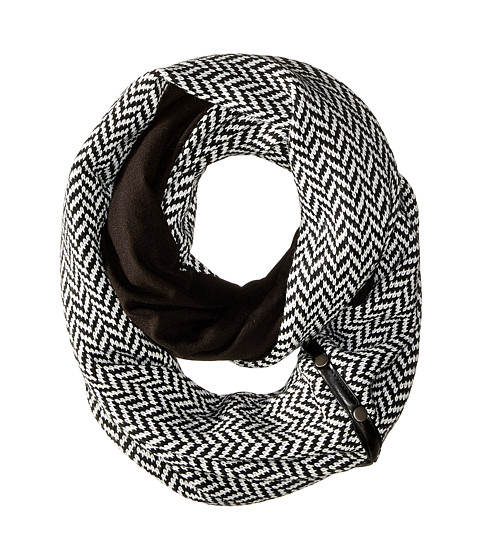 Accesorii Femei Liebeskind Fleece - Lined Herringbone Snap Scarf BlackWhite