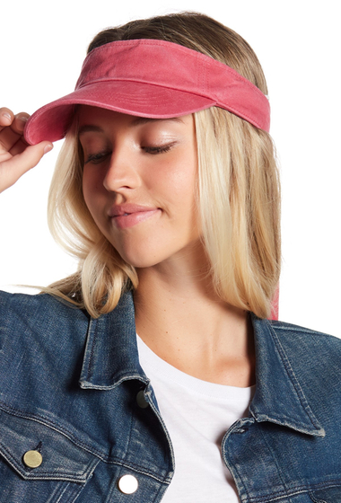 Accesorii Femei Melrose and Market Bow Washed Canvas Visor PINK