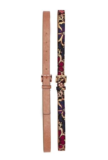 Accesorii Femei Steve Madden 2-For-1 Brocade Skinny Belt PINK