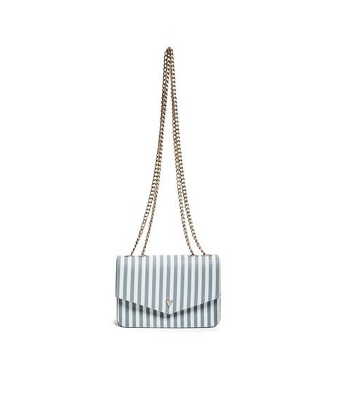 Accesorii Femei GUESS Hartley Crossbody Wallet blue stripe