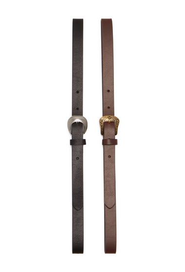 Accesorii Femei Linea Pelle Western Belt - Pack of 2 BLACKBROWN