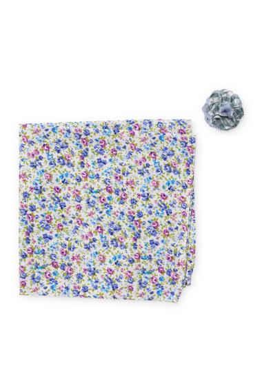 Accesorii Barbati Original Penguin Bruguera Floral Pocket Square Mixed Print Lapel Pin Set PURPLE