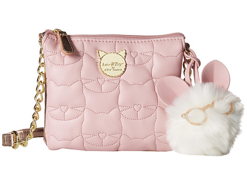 Genti Femei Luv Betsey by Betsey Johnson Double PVC Triple Compartment Crossbody Blush