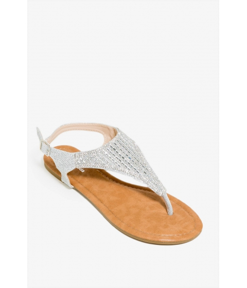 Incaltaminte Femei CheapChic Gypsy Glitter Sandal Metallic Silver