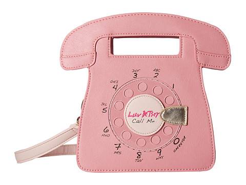 Genti Femei Luv Betsey by Betsey Johnson Ringz PVC Kitch Phone Crossbody Blush