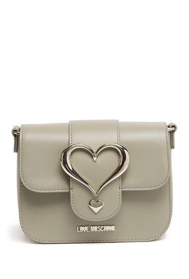 Genti Femei LOVE Moschino Gray Heart Accent Crossbody Bag GRAY