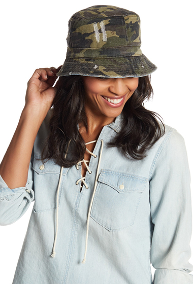 Accesorii Femei David Young Reversible Bucket Hat CAMODENIM