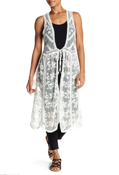 Accesorii Femei David Young Embroidered Lace Vest IVORY